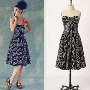 Anthropologie Girls from Savoy Traced Twirls Dress